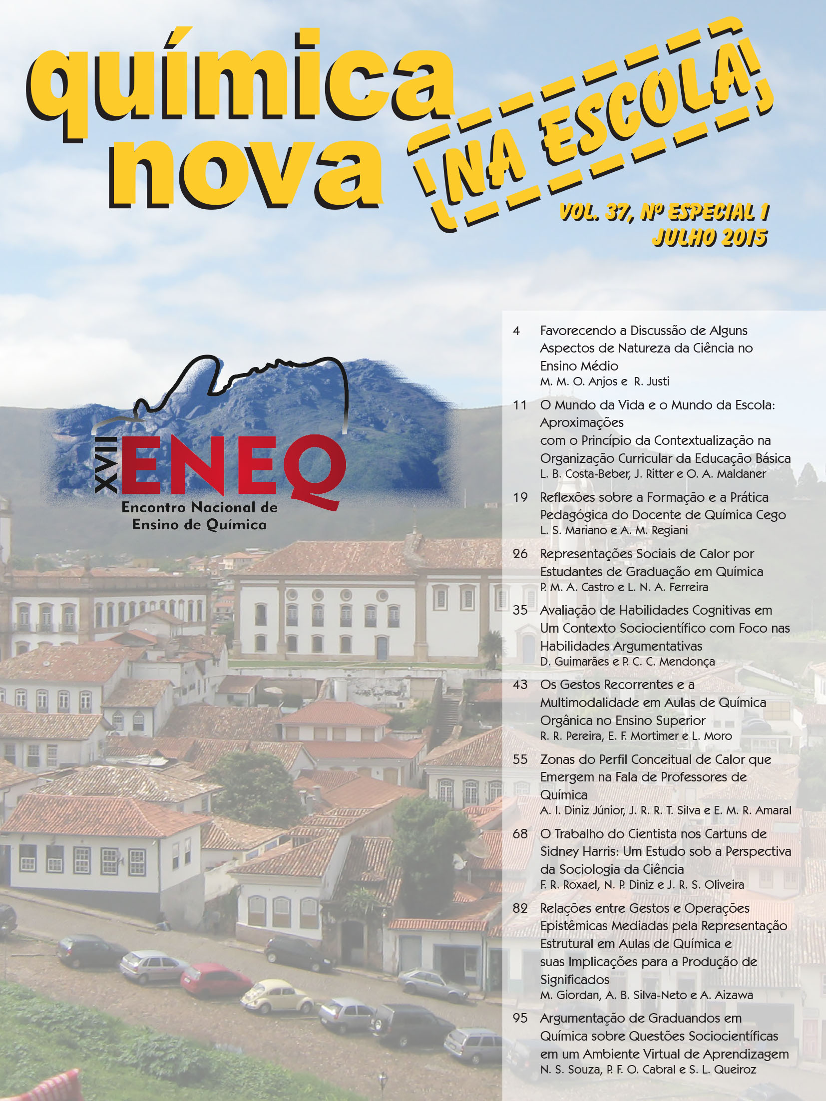 QNEsc Vol. 37 N<sup><u>o</u></sup> especial 1(exclusivamente on-line)